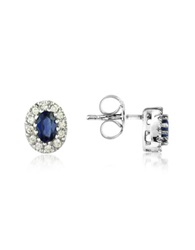Incanto Royale Sapphires And Diamond 18K Gold Earrings Silver