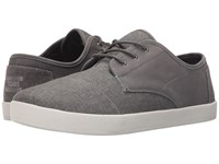 Toms Paseo Taupe Leather Washed Canvas Men's Lace Up Casual Shoes Gray