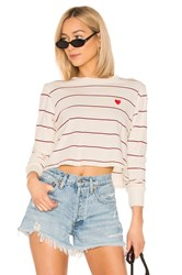 Spiritual Gangster Heart Fiona Long Sleeve Top White