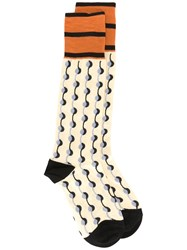 Marni Garland Intarsia Socks Women Cotton Nylon L