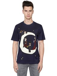 Dolce And Gabbana Music Moon Printed Cotton Jersey T Shirt