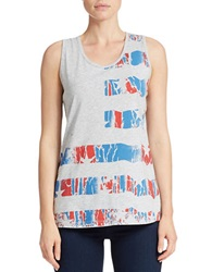 William Rast Flag Tank Top Heather Grey
