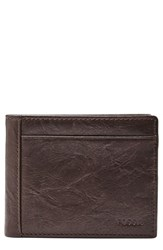Fossil Leather Wallet Brown