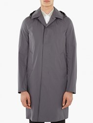 Jil Sander Grey Lightweight Cotton Mac