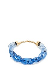 Marni Braided Perspex Necklace Blue
