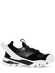 Calvin Klein 205W39nyc Carlos 10 Leather And Neoprene Sneakers Black