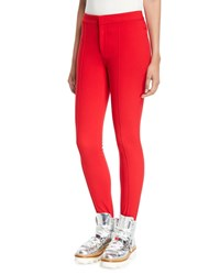 Moncler High Waist Skinny Stirrup Pants Red