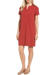 Eileen Fisher Women's Mandarin Collar T Shirt Dress