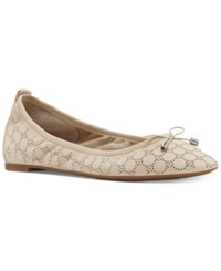 Jessica Simpson Nalan Embellished Ballet Flats Women's Shoes Natural