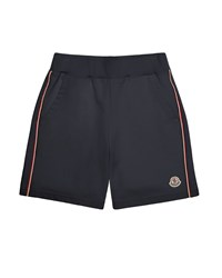 Moncler Trimmed Cotton Sweat Shorts Navy Size 8 14 Size 12