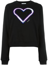 Carven Heart Patch Sweatshirt Black