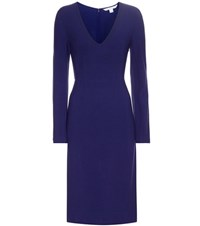 Diane Von Furstenberg Milena Stretch Crepe Dress Blue