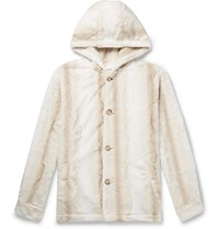 Noon Goons Faux Fur Hooded Jacket Neutrals
