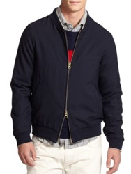 Gant Wool Bomber Jacket Navy