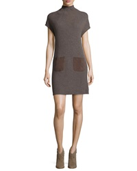 Joie Geinat Ribbed Dress With Suede Trim