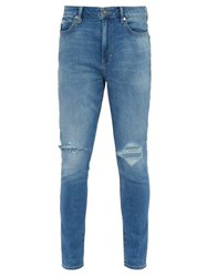 Neuw Rebel Distressed Skinny Jeans Light Denim