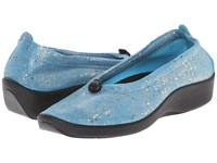 Arcopedico L14 Turqoise Sparkle Women's Flat Shoes Blue