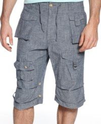 Sean John Classic Flight Cargo Shorts Chambray