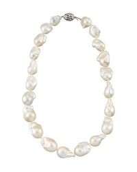 Belpearl 14K Baroque White Freshwater Pearl Necklace 18 L