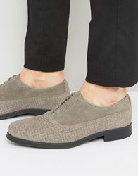 Selected Homme Oliver Woven Suede Shoes Grey