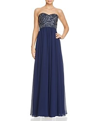 Decode 1.8 Embellished Bodice Gown Navy