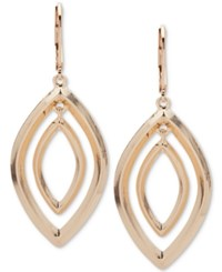Anne Klein Silver Tone Orbital Drop Earrings Gold