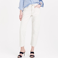 J.Crew Chimala Cropped Japanese Selvedge Jean In White Wash