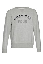 French Connection Men's What The Fcuk Sweatshirt Grey