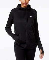 Nike Dry Lightweight Fleece Full Zip Training Hoodie Dark Grey Heather Black