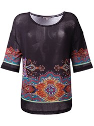 Etro Paisley Pattern T Shirt Black