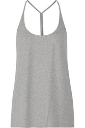 Haute Hippie Ribbed Knit Camisole Gray