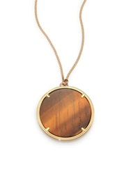 Givenchy Tiger's Eye Pendant Necklace Tigers Eye