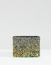 New Look Sequin Mermaid Coin Purse Multi Coloured