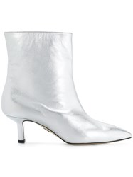 Paul Andrew Ankle Length Stiletto Boots Metallic