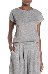 Leith Women's Short Sleeve Tee Grey Medium Heather