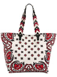 Red Valentino Bandana Tote Bag Nude And Neutrals