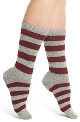 Wigwam Women's Skrum Crew Socks Grey Maroon