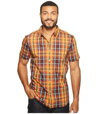 The North Face Short Sleeve Passport Shirt Sequoia Red Plaid Prior Season Short Sleeve Button Up Brown