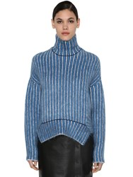 Sportmax Mohair Blend Knit Sweater Multicolor