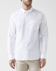 Knowledge Cotton Apparel White Oxford Shirt