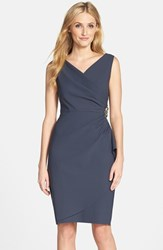 Petite Women's Alex Evenings Side Ruched Dress Charcoal