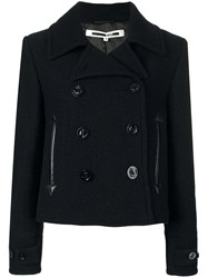 Mcq By Alexander Mcqueen Cropped Peacoat Women Polyester Viscose Virgin Wool 40 Black