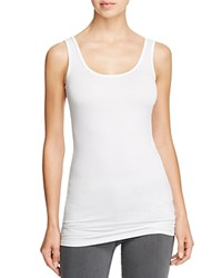 Three Dots Scoop Neck Tank White