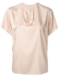 Cedric Charlier Cedric Charlier Loose Fit Short Sleeve Blouse Nude And Neutrals