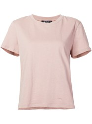 A.P.C. Round Neck T Shirt Pink And Purple
