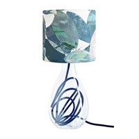 Anna Jacobs Falling Leaves In Winter Lampshade Blue