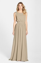 Women's Paper Crown By Lauren Conrad 'Tori' Crepe Gown Tote Basket
