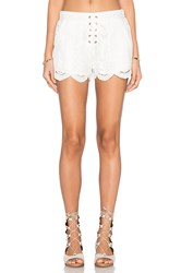 Minkpink Crescent Moon Shorts White