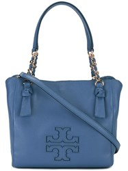 Tory Burch 'Harper' Small Satchel Blue