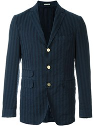Massimo Alba Striped Blazer Blue
